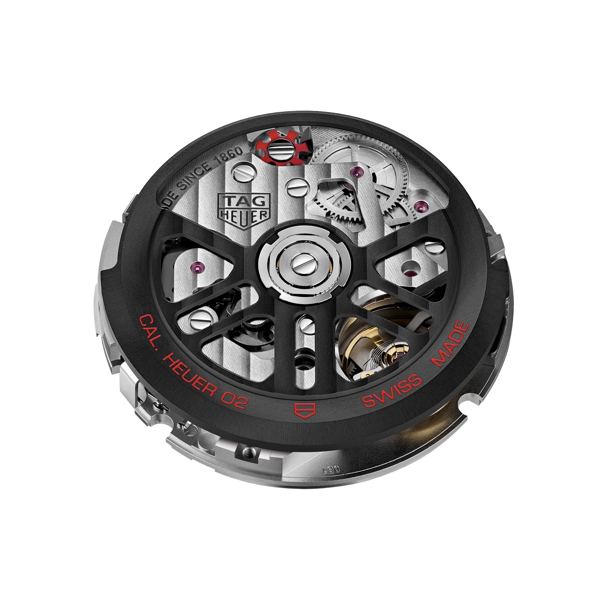 タグ・ホイヤー自社製 ホイヤー02ムーブメント - パワーリザーブを備えたスイス製ウォッチ