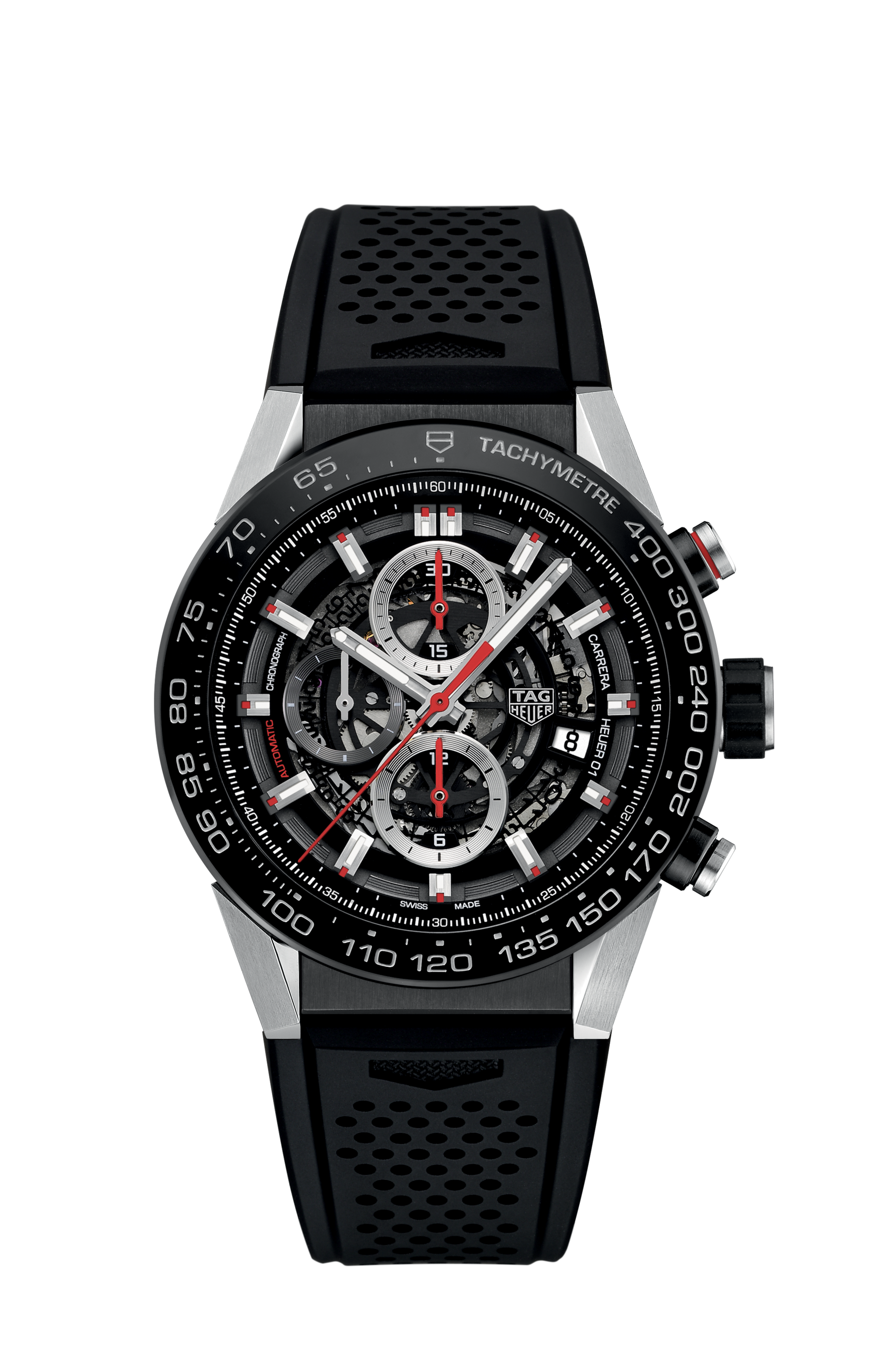 Image result for Tag Heuer Carrera Calibre Heuer 01 Skeleton Watch