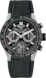 TAG HEUER CARRERA Black Rubber & Alligator Titanium & Ceramic Black