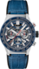 TAG HEUER CARRERA Blue Leather Alligator Steel & Ceramic Blue