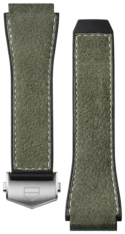 Green Rubber and leather Band