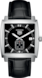 TAG HEUER MONACO Black Leather Alligator Steel Black