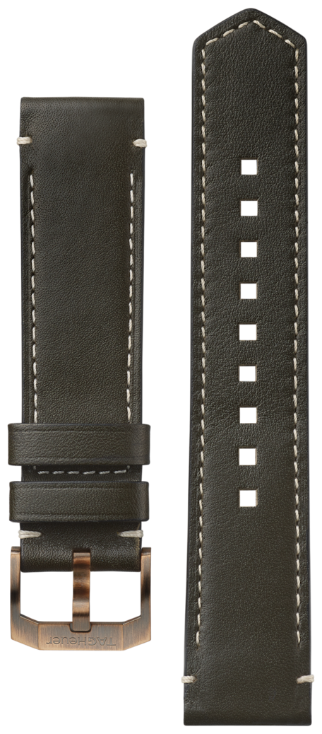TAG HEUER AUTAVIA Khaki Leather Band