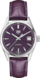 TAG HEUER CARRERA Purple Leather Alligator Steel Purple