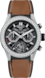 TAG HEUER CARRERA Brown Rubber and Leather Titanium Black PVD Black