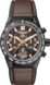 TAG Heuer Carrera x Aston Martin Brown Rubber and Leather Titanium Carbon Brown
