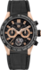 TAG HEUER CARRERA Black Rubber and Alligator Titanium & Gold Black