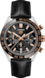 TAG HEUER CARRERA Black Alligator Leather Steel, Gold & Ceramic Black