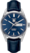 TAG Heuer Carrera Black Alligator Leather Steel Blue