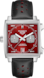 TAG Heuer Monaco Blue Leather Steel Red