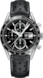 TAG HEUER CARRERA Black Leather Steel HX0P20