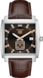 TAG HEUER MONACO Brown Leather Alligator Steel Brown