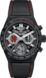 TAG HEUER CARRERA SENNA SPECIAL EDITION Black Rubber and Leather Ceramic HX0S66
