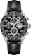 TAG HEUER CARRERA Black Leather Alligator Steel Black