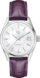 TAG HEUER CARRERA Purple Leather Alligator Steel White