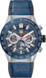 TAG HEUER CARRERA Blue Rubber & Alligator Steel & Ceramic Blue