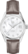 TAG HEUER CARRERA Brown Leather Alligator Steel White