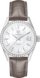 TAG Heuer Carrera Brown Alligator Leather Steel White