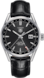 TAG HEUER CARRERA Black Leather Alligator Steel HX0N07