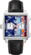 TAG HEUER MONACO GULF 50TH ANNIVERSAR Black Leather Steel Blue
