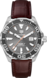 TAG HEUER AQUARACER Brown Alligator Leather Steel Grey