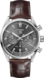 TAG Heuer Carrera Brown Alligator Leather Steel Grey