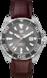 TAG Heuer Aquaracer Brown Alligator Leather Steel Alu Grey