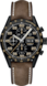 TAG HEUER CARRERA Brown Leather Titanium Black PVD Black