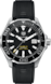 TAG Heuer Aquaracer Blue and Yellow Rubber Steel Alu Black