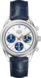 TAG HEUER CARRERA Blue Leather Alligator Steel White
