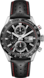 TAG Heuer Carrera Black Leather Steel Black
