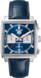 TAG Heuer Monaco Blue Alligator Leather Steel Blue