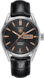 TAG Heuer Carrera Black Alligator Leather Steel Black