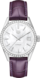 TAG HEUER CARRERA Purple Leather Alligator Steel White