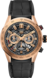 TAG HEUER CARRERA Black Rubber and Alligator Steel and Gold Black