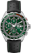 TAG HEUER FORMULA 1 Black Leather Steel Green