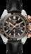 TAG HEUER CARRERA Black Alligator Leather Steel & Gold Black