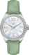 TAG Heuer Formula 1 Green Leather Steel White