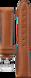 Correa de piel marrón