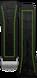 Correa de caucho negra con un toque de lima