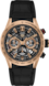 TAG HEUER CARRERA Black Leather Alligator Steel and Gold Negro