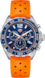 TAG HEUER FORMULA 1 Naranja Caucho Acero Azul