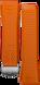 Bracelet orange en caoutchouc