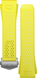 Bracelet jaune citron en caoutchouc