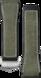 Bracelet vert en caoutchouc et cuir