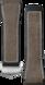 Bracelet marron en caoutchouc et cuir