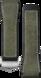 Cinturino in pelle e caucciù verde