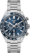 タグ・ホイヤー カレラ キャリバー ホイヤー02 スポーツクロノグラフ カラーなし ステンレススティール製 スティール&セラミック ブルー
