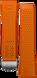 Pulseira em borracha laranja