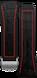 Pulseira em borracha preta com detalhe vermelho